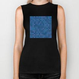 november blue geometric pattern Biker Tank
