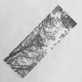 Grey Trees Abstract Yoga Mat