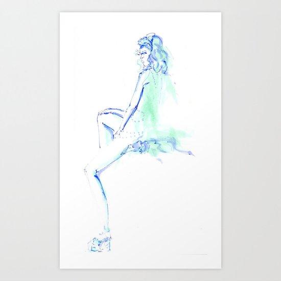 Blue in Green  Art Print