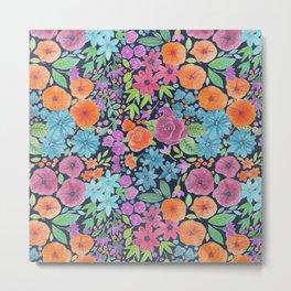 Floral watercolor pattern Metal Print