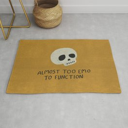 Almost Too Emo To Function (YELLOW) Rug