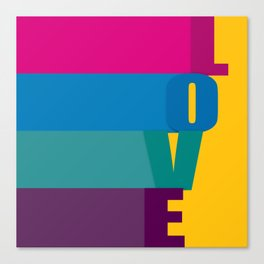 The love is colorful Canvas Print