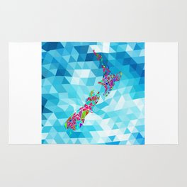New Zealand Map : Square Rug