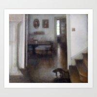shadow Art Prints featuring Shadow by Aurelia Burnham
