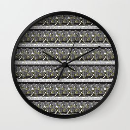 Mt Cook/Kowhai Stamp Collage Wall Clock