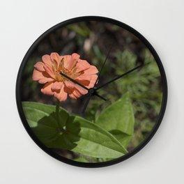 Jane's Garden - The Peachy Orange Flower Wall Clock