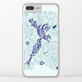 An emerald world is listening... Clear iPhone Case