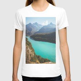 Brilliant Blue Diablo Lake T-shirt