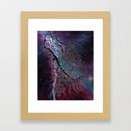 Alien Praying in the Storm Framed Art Print