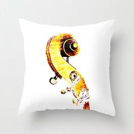 Jazz Contrabass Neck Throw Pillow