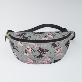 Devil Kitties Grey Fanny Pack