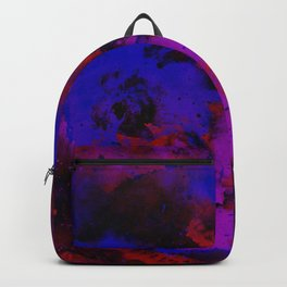 Colour Warfare - Abstract, red, blue, black and purple painting Backpack