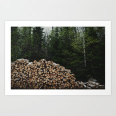 Grand Marais, MN - Logging.   Art Print