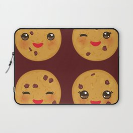 Kawaii Chocolate chip cookie Laptop Sleeve
