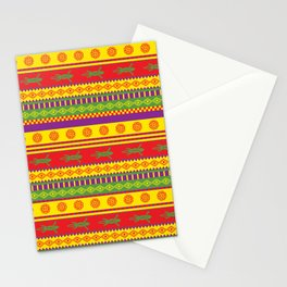 gecko mexican pattern Stationery Cards