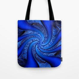 Twisted in Blue... Tote Bag