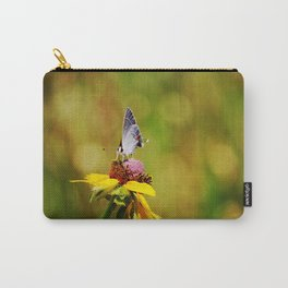 Brown Eyed Susan & Hairstreak Butterfly Carry-All Pouch