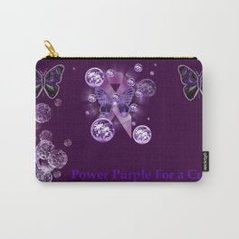Power Purple For a Cure - For The Future Carry-All Pouch