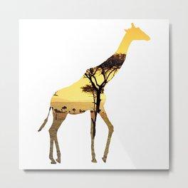 Giraffe Cutout 2 Metal Print
