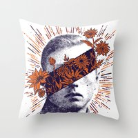 hero Throw Pillows featuring Hero by YONIL