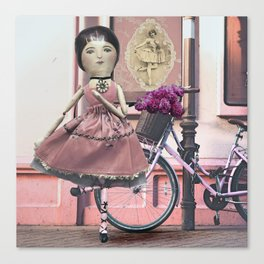 Whimsical Pink Ballerina Canvas Print
