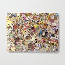 Cartoon Collage Metal Print
