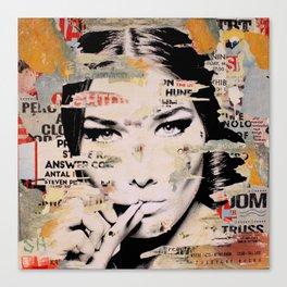 Carla Bruni is smoking hot Canvas Print
