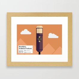 Beesneez Arabella Producer Microphone Illustrated Print Framed Art Print