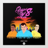 gta Canvas Prints featuring GTA 8.............BIT RETRO by A. Jones