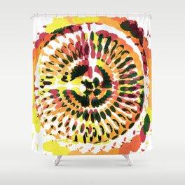 Warm Spiraled Exclusion Shower Curtain