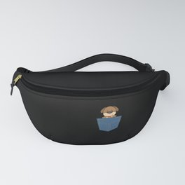 Dog in a jeans pocket Fanny Pack