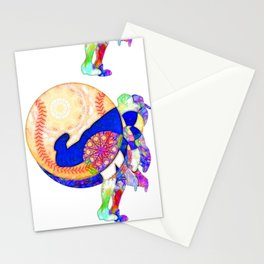 Baseball Lacing Coming At You From The Pitcher Stationery Cards