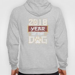 Year Of The Dog Chinese New Year 2018 Distressed T-Shirt Hoody