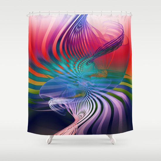 Gently Twisted Shower Curtain
