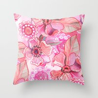 Lil' Garden Party Throw Pillow