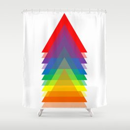 Rainbow Up! Shower Curtain