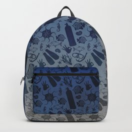 Scuba Dive Underwater Pattern Backpack