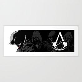 Black and White Pen Work Art Print