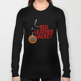 Red Leather Jacket Long Sleeve T-shirt