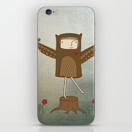 Little Owl Girl iPhone Skin