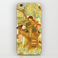 beastie boys iPhone & iPod Skins featuring Our House In the Woods by Teagan White