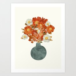 Collage Bouquet / Warm Art Print