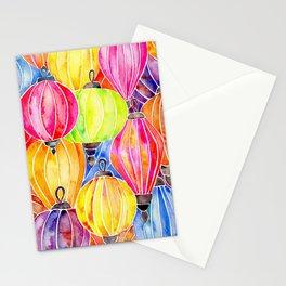 Vietnamese Rainbow Lanterns Stationery Cards
