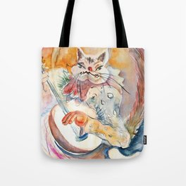 Cat Music Tote Bag