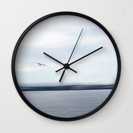 Seagull over the Mersey river Wall Clock