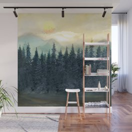Forest Under the Sunset II Wall Mural