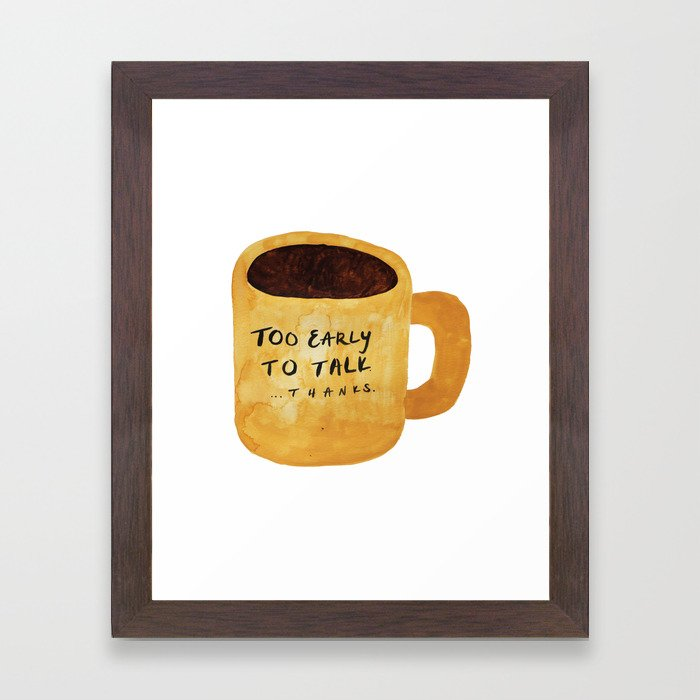Messy Watercolor Coffee Mug Framed Art Print