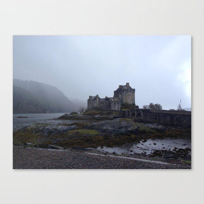 Dreich Eilean Donan Castle Canvas Print