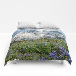 Scenic Landscape Art, Mt. Rainier, Mt. Rainier National Park, Paradise Comforters