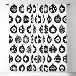 Christmas Bauble Pattern Blackout Curtain